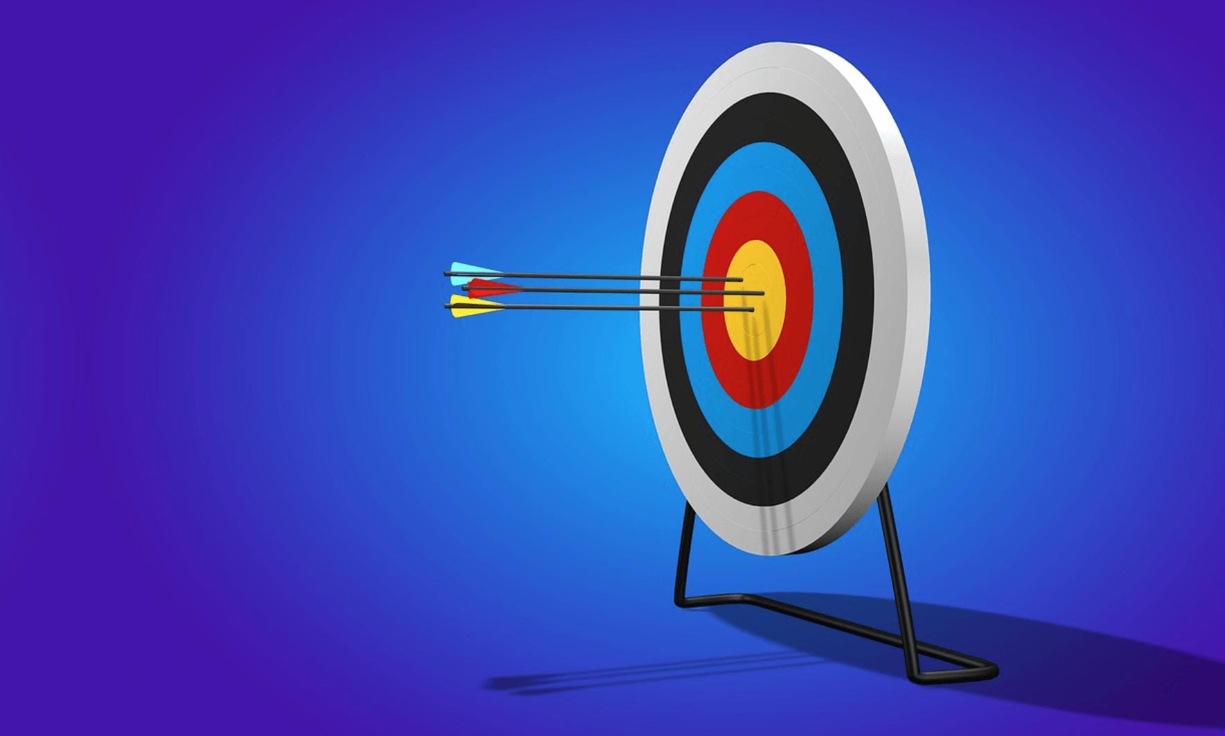 Target goals image from https://pixabay.com/en/arrow-target-range-bullseye-sport-2889040/