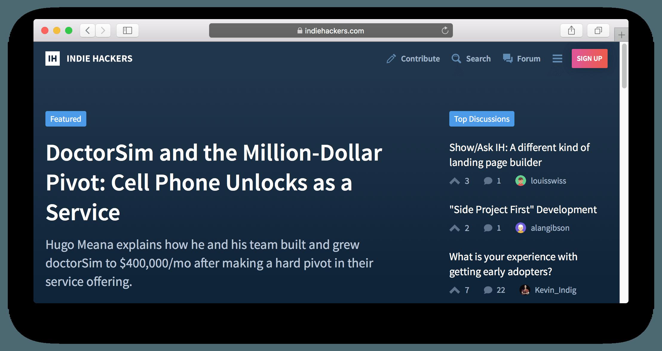 indiehacker.com image