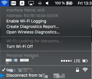 macos - Command Line (CLI) Command for disconnecting wifi from